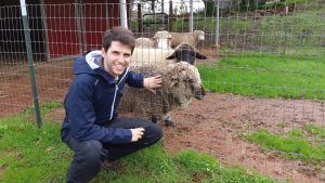 Filipe with Sheep